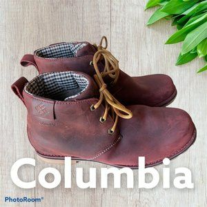 NEW Columbia Chinook Chukka Leather Work Boots RED